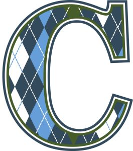 Blue-Argyle-Wall-Letter-C