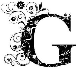 Verzierter Buchstabe G